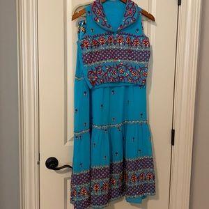 Turquoise 3pc lehenga set